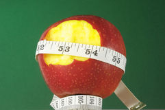Diet Apple and Meter Royalty Free Stock Photo