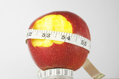 Diet Apple and Meter Royalty Free Stock Photos