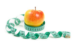 Diet apple and tape Royalty Free Stock Photo