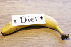 Diet on banana Stock Image
