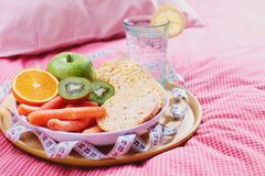 Diet in bed Royalty Free Stock Photos