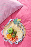 Diet in bed Stock Image