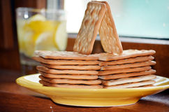 Diet biscuits for breakfast Stock Photography