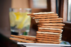 Diet biscuits for breakfast Royalty Free Stock Photography