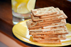 Diet biscuits for breakfast Royalty Free Stock Images