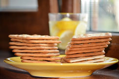 Diet biscuits for breakfast Stock Image