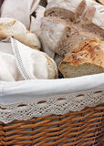 Diet Bread In Basket. Some Diet Breads In Basket Royalty Free Stock Photography