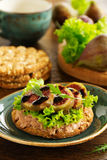 Diet bread with pate Royalty Free Stock Photography
