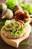 Diet bread with pate Stock Image