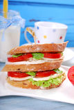 Diet breakfast with caprese sandwich Stock Photography