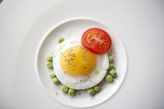 Diet Breakfast with Seasoned Egg Royalty Free Stock Photos