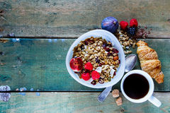 Diet breakfast set Royalty Free Stock Photography