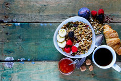 Diet breakfast set Royalty Free Stock Photos