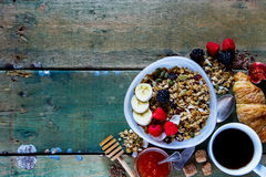 Diet breakfast set Royalty Free Stock Images