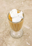 Diet butterscotch pudding Royalty Free Stock Image