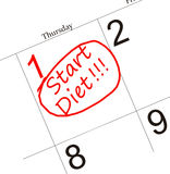 Diet calendar Royalty Free Stock Photo
