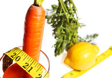 Diet with carrot Stock Image