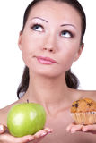 Diet choice Stock Photography