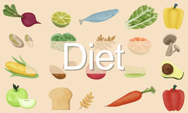 Diet Choice Eatting Healthy Nutrition Obesity Concept Stock Photo