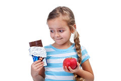 Diet choices Royalty Free Stock Images
