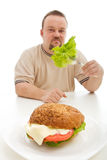 Diet choices concept Royalty Free Stock Photos