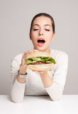 Diet choices concept. Stock Image