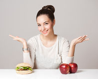 Diet choices concept. Stock Photography