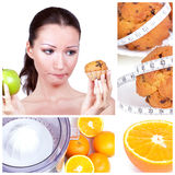 Diet collage royalty free stock photography