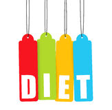 Diet, Colorful Hanging Tags Stock Photography