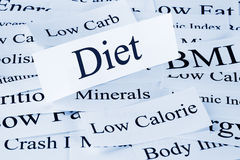 Diet Concept. A conceptual look at diet and related words Royalty Free Stock Photography
