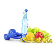 Diet concept with dumbbells. Stock Images