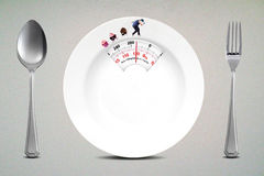 Diet concept with empty plate Royalty Free Stock Image