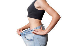 Diet concept and hanppy woman Royalty Free Stock Images