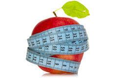 Diet concept with healthy apple Royalty Free Stock Images