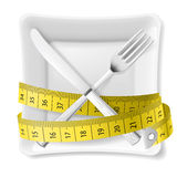 Diet concept illustration Stock Photo