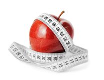 Diet Concept Measuring Tape And Apple Stock Photos