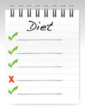Diet concept notepad Royalty Free Stock Images