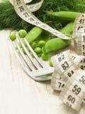 Diet concept with peas Stock Photos