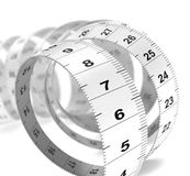 Diet Concept - Plastic Tape Measure Stock Images