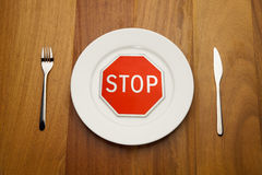 Diet concept - stop eat Stock Photo