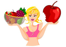 Diet concept Woman Isolated Royalty Free Stock Image