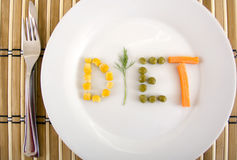 Diet conceptual. Diet eathing conceptual image from several vegetable Royalty Free Stock Photography