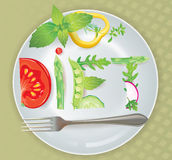 Diet. Contains transparent objects. EPS10 Stock Images
