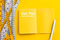 Diet control concept background. Colorful of Measuring tape on v Royalty Free Stock Image