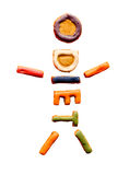 Diet cookie man - isolated. Little man made from cookies with 'diet' word Royalty Free Stock Image