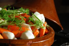 Diet cooking. Vegetable light cooking for a typical maroccan dish Stock Images