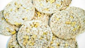 Diet crispy round bread stock image