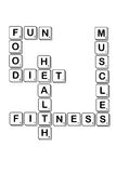 Diet crossword made of scrabble letter Royalty Free Stock Image