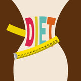 Diet design Royalty Free Stock Photos