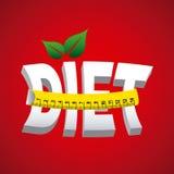 Diet design. Over red  background vector illustration Stock Image